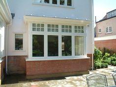 New Bay Window Detail 1920s House, Edwardian House, Aluminium Windows And Doors, Casement Windows, 1930s House Exterior, Bay Window Exterior, House Windows, Bay Windows, Window Detail