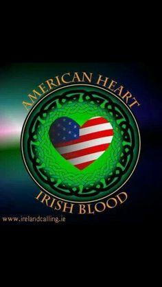 American heart Irish blood