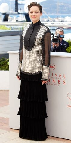 NEWS & GOSSIPS: Marion Cotillard Brings a Little Rock 'n' Roll to Cannes in a Studded Look I Fashion Trends Magazine