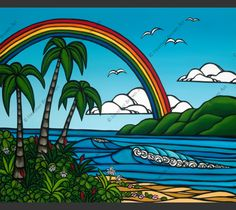 Ānuenue by Heather Brown  Love the rainbow!