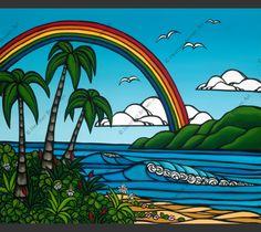 Ānuenue by Heather Brown  Love the rainbow!