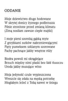 """""""Oddanie""""  Rafał Wojaczek"""