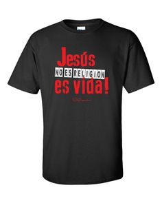 Jesus es Vida - Black T-Shirt via D'Angelus. Click on the image to see more!