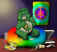 ☮ American Hippie Weed Quotes ~ Stoner Bear