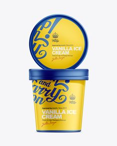 16oz Ice Cream Packaging Mockup. Preview