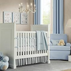 White & Blue, natural, fresh baby boys room