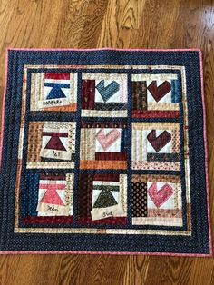 Sisters love, pattern by Cheri Payne, done by Alberta Bennett.