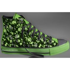 Customize Your Own Glow in the Dark Converse Chuck Taylor Shoes ❤ liked on Polyvore featuring shoes and sneakers