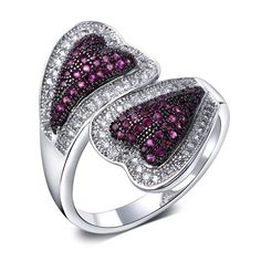 Find More Rings Information about Cute Double Hearts Design Elegant Rings For Women Lead Free Platinum Plated AAA Cubic Zirconia Wedding Anniversary Rings Jewelry,High Quality jewelry display ring,China jewelry ring tags Suppliers, Cheap ring art from ANGEL in Fashion Jewelry on Aliexpress.com