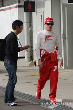 "Fan:""Hey, I was here on Friday and you didn't sign, can you sign today? Raikkonen:""I said keep dreaming, so go back to sleep!"""