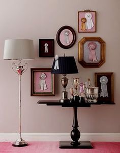 Ribbons in picture frames... genius!