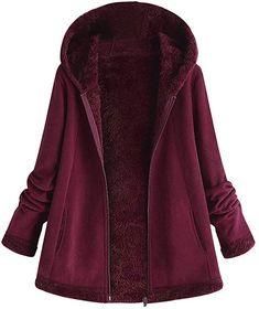 Bellelove Manteau à Capuchon à la Mode pour Femmes Ourlet Long à Manches  Longues en Fausse c7ca75bb5f0