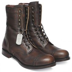 Cheaney Tiger Moth Military Style Mid Calf Boot in Copper Goat Skin