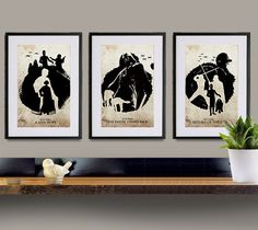 Star Wars Trilogy 11x17 Poster Set by sanasini on Etsy, $40.00