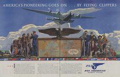 advertisement: Pan American Airways, Saturday Evening Post | http://www.flysfo.com/