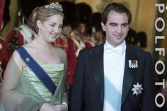 Princess Theodora of Greece with her older brother, Prince Nikolaos