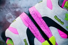 Check out this flashy fluro grey Reebok Court Victory Pump! #sneakers