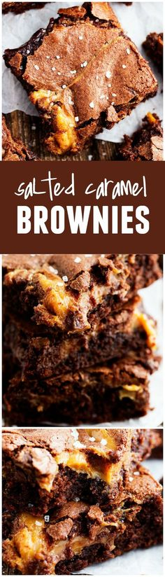These Salted Caramel Brownies are perfectly fudgy and oozing with salted caramel! Trust me when I say that these are the BEST!