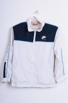 Nike Womens S Youth M Sport Jacket White Tracksuit Top Bomber - RetrospectClothes
