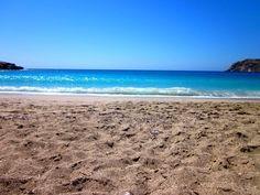 Sandy beach of Lefkos