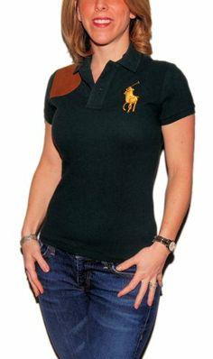 Polo Ralph Lauren Womens Mesh Wool Green Shirt ? Shirt Add