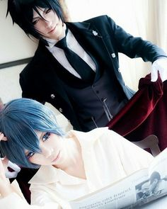 Anime Kuroshitsuji ( Black Butler ) Personagens Ciel & Sebastian Cosplayer…