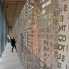 Jaume Plensa - Figurative Sculptures Art and typographic design Wayfinding Signage, Signage Design, Booth Design, Wall Design, Environmental Graphic Design, Environmental Graphics, Donor Wall, Artistic Installation, Tents