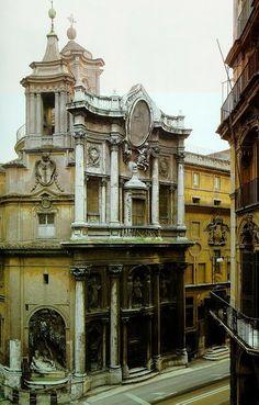 Iglesia de San Carlos de las Cuatro Fontanas, Roma Italia