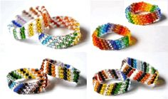 Rainbow Rings Pattern - Item Number 18049 at Bead-Patterns.com