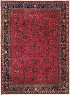 """MANCHESTER KASHAN, 8' 8"""" x 12' 1"""" — Circa 1925 —Price: $15,000, Central Persian Antique Rug - Claremont Rug Company"""