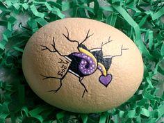 Baby dragon egg hatchling spring garden decor by RockArtiste