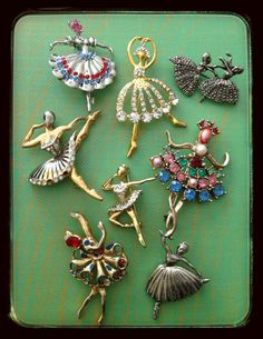Dancers. Brooches https://www.facebook.com/pages/The-Jewellery-Cloud/160517894095561?ref=bookmarks