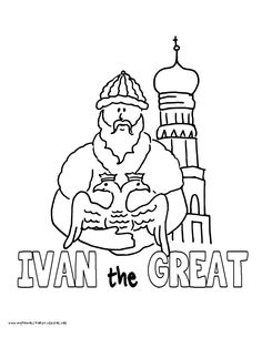 world history coloring pages printables ivan the great iii