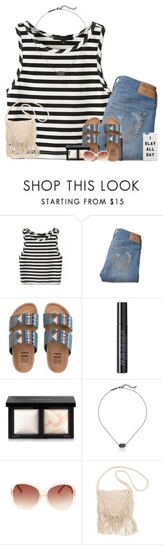 """""""Untitled #261"""" by fashion-n-o-w ❤ liked on Polyvore featuring Hollister Co., Billabong, Urban Decay, Bare Escentuals, Kendra Scott and M Missoni"""
