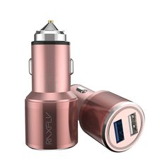 RAXFLY Car Charger Mobile Phone Mini Dual USB Quick Charging 3.0 Aluminum Alloy Adapter For iPhone Samsung Huawei Xiaomi