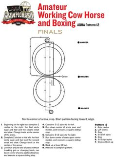 Take a look at the finals pattern for amateur #WorkingCowHorse and amateur #boxing.