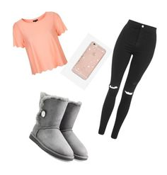 """""""Untitled #24"""" by lolo-smith0707 on Polyvore featuring Topshop, UGG Australia and Sonix"""