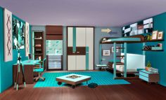 "Sims 4. Dormitorio ""Ivan"". ~ pqSim4"