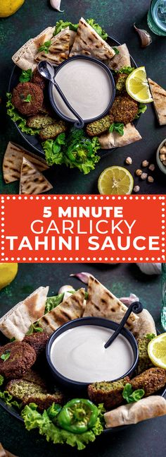 5 Minute Garlicky Tahini Sauce is a traditional Middle Eastern sesame seed based sauce that's tangy, nutty, creamy, and silky smooth! Learn the secret. Homemade Tahini, Homemade Sauce, Middle Eastern Dishes, Middle Eastern Recipes, What Is Tahini Sauce, Tahini Dip, Creamy Cauliflower, Greek Dishes, Fresh Garlic
