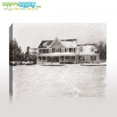 A nice house on pencil sketch for your wall by snappy canvas. Photo Sketch, Photo Canvas, Pet Portraits, Have Fun, Pencil, Landscape, Pets, Nice, Wall