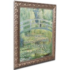'The Water Lily Pond, 1899' by Claude Monet Ornate Framed Art