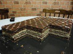 Žiarske rezy, recepty, Zákusky | Tortyodmamy.sk Czech Recipes, Croatian Recipes, Cake Bars, Nutella, Tiramisu, Animal Print Rug, Baking Recipes, Cupcake Cakes, Bakery