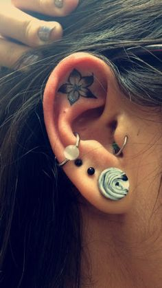 Ear Tattoos Idea.