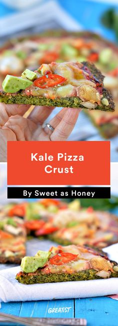 9. Kale Pizza Crust #healthy #pizza #recipes http://greatist.com/eat/healthier-pizza-recipes-better-than-delivery