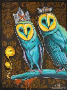 Two Owls by Seattle artist Jesse Link.