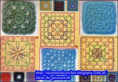 PATRONES=GANCHILLO = CROCHET  = GRAFICOS =TRICOT  = DOS AGUJAS: points to weave crochet patterns, graphs, charts, ...