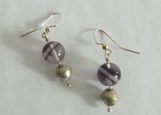 Flourite semi-precious stones, vintage silver beads, $29 To purchase www.yazberry.com