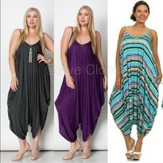 Plus measurement Romper harem palazzo pants jumpsuit Boho. >>> Learn more by clicking the picture link