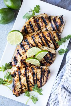 Margarita Grilled Chicken is salty lime goodness that's perfect for a party! This easy grill recipe is perfect for summer parties backyard barbecues and cookouts and can feed a family for a weeknight meal or easily feed a crowd. Pork Rib Recipes, Grilled Chicken Recipes, Grilled Meat, Grilling Recipes, Cooking Recipes, Healthy Recipes, Grilling Tips, Meat Recipes, Light Chicken Recipes