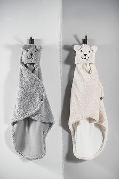 Jollein omslagdoek teddy Bear grey - Villa Vrolijk
